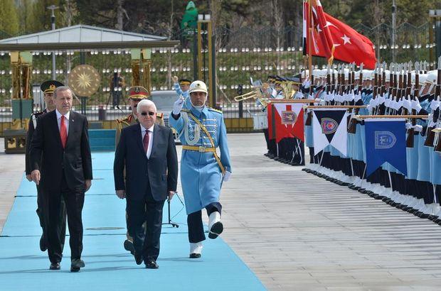 Cumhurbaşkanı Recep Tayyip Erdoğan, Irak Cumhurbaşkanı Masum