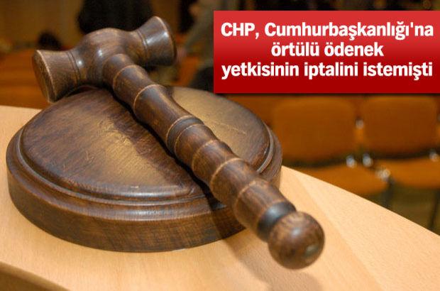 anayasa mahkemesi cumhurbaşkanlığına örtülü ödenek