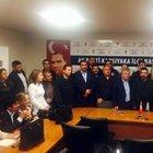 CHP milletvekili adayı İlhan Baran'a Ak Parti rozetini Savcı Sayan taktı
