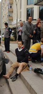 Ankara'da yoldan çıkan araç Yargıtay üyesine çarptı