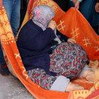 250 kiloluk kadın battaniyeyle taşındı