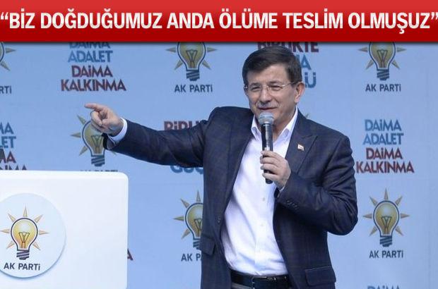 Başbakan Davutoğlu Rize'de konuştu