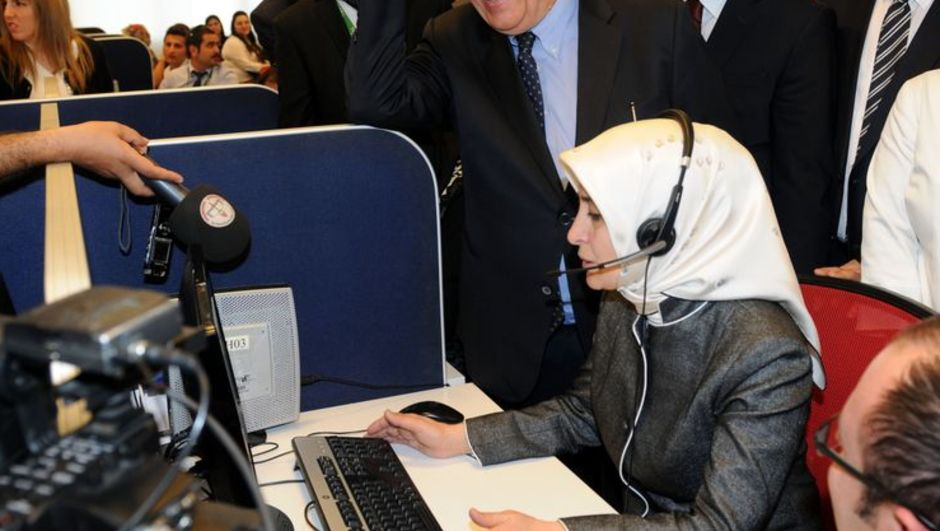 Sare Davutoğlu, Milli Eğitim Bakanı Nabi Avcı, Çağrı merkezi