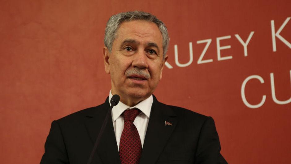 Başbakan Yardımcısı ve Hükümet Sözcüsü Bülent Arınç, KKTC'nin yeni Cumhurbaşkanı Mustafa Akıncı