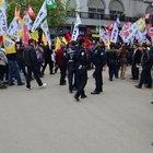 Türk bayraksız HDP kortejine vatandaşlar tepki gösterdi