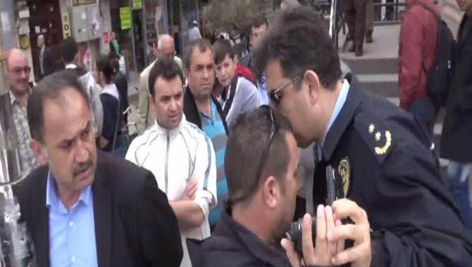Aksaray, Emniyet Müdür Yardımcısı, Muhabiri darp etti