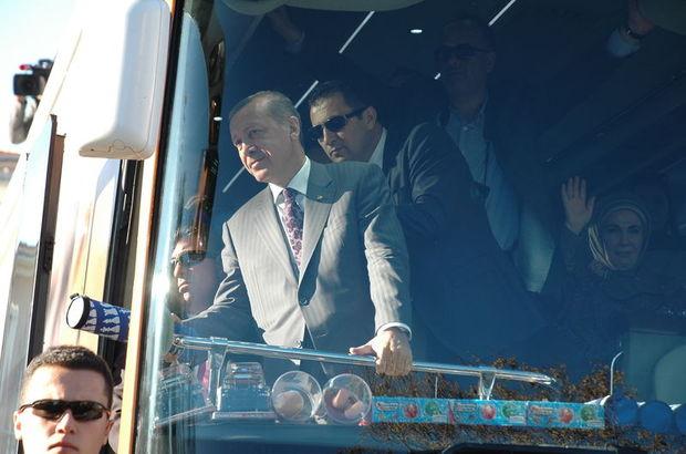 Tekosin Duvar  Diyarbakır Cumhurbaşkanı Erdoğan otobüs