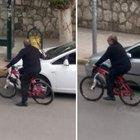 Adıyaman Belediye Başkanı Kutlu bisikletle teftiş yaptı