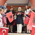 Cumhurbaşkanı Erdoğan'ın eşi Emine Erdoğan, Arnavutluk'un başkenti Tiran'da kreş açılışına katıldı