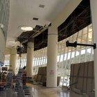 Burdur Şehirlerarası Otobüs Terminali'nin alçıpan tavanının bir kısmı çöktü