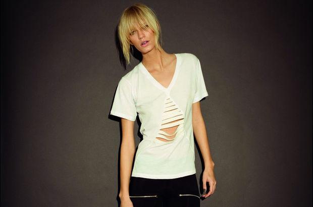 Klasik beyaz tişört