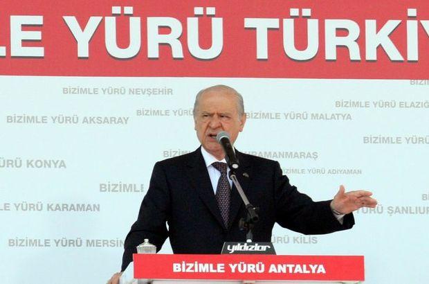 MHP Devlet Bahçeli 7 Haziran seçimleri AK Parti HDP Başbakan Davutoğlu