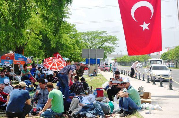 Bursa'da eylemde vali devreye girdi