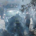 Milletvekili adayının otomobilinde yangın çıktı
