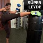 Michelle Obama Kickbox antrenmanında...