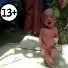 İki günlük bebeğin ateşini düşürmek için akıl almaz yöntem!