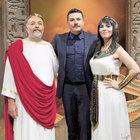 Kleopatra ve Sezar Turgut'a poz verdi