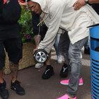 Herkesin gözü Chris Brown'daydı...