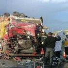 Konya'da trafik kazası: Baba oğul birlikte can verdi