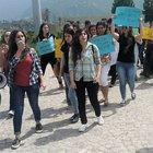 Artvin'de, üniversite öğrencileri darp edildikleri gerekçesiyle eylem yaptı