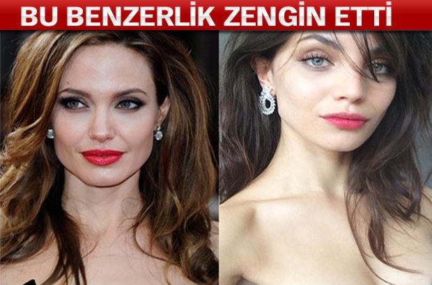 ANGELİNA JOLİE'YE BENZERLİĞİ ZENGİN ETTİ!