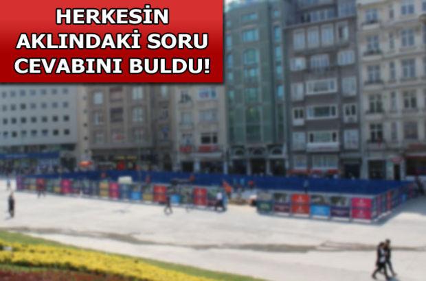 İşte Taksim'in yeni hali!
