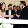19 şahitle evlendiler...
