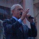 Kılıçdaroğlu Çanakkale'de  sağanak yağmura aldırmadan konuştu