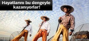 Burma'da Inle Gölü'nde balıkçılık çok zor!