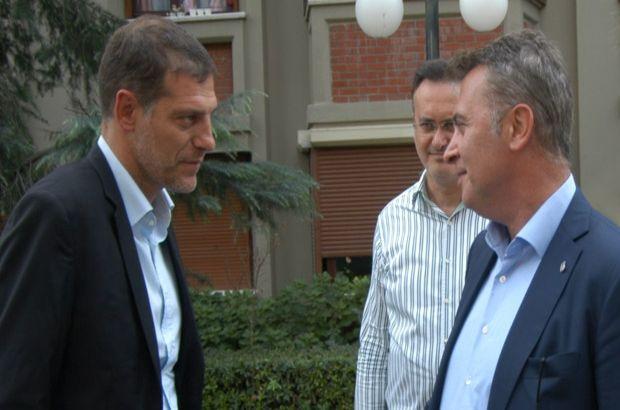 Beşiktaş'ta başkan Fikret Orman ve Slaven Bilic basın toplantısı düzenliyor