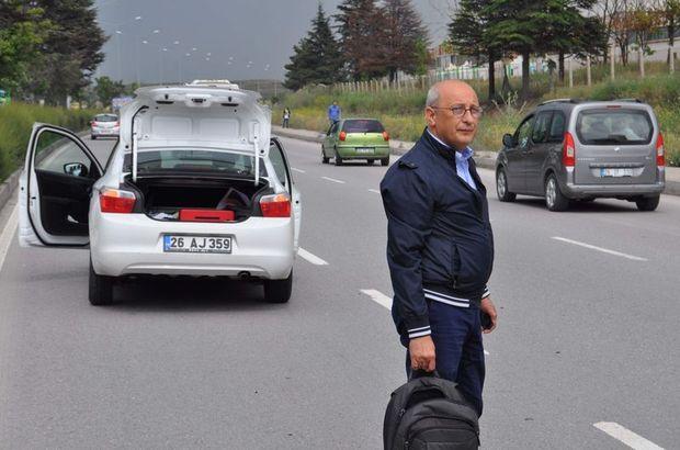 CHP'li adayın aracına çarpıp kaçtı