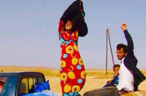 IŞİD Suriye kaçan kadın çarşaf çıkardı