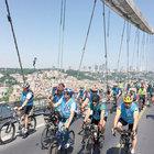 10 bin bisikletli, Boğaz Köprüsü'nden geçti