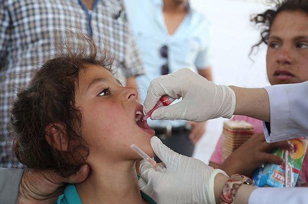 Suriyeli sığınmacı çocuklar aşılandı