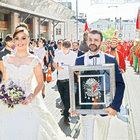 Taksim'de mehterli düğün