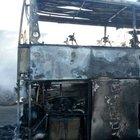 Kastamonu'da yolcu otobüsü yandı