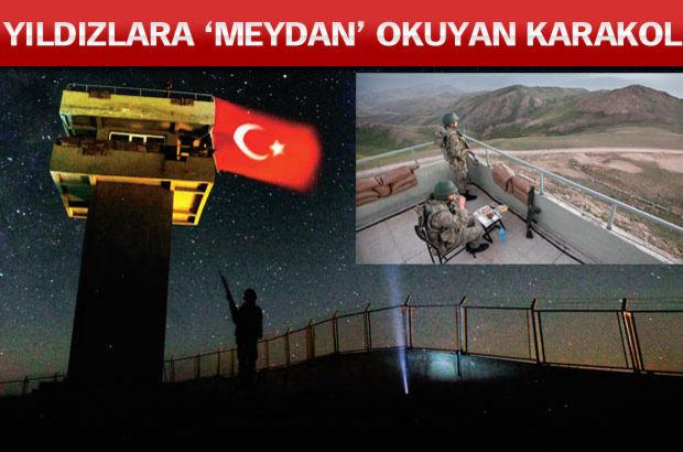 Türkiye-İran sınırında, Türkiye'nin en yüksek noktasında bulunan Meydan Karakol'u