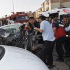 Kars'ta polis memuru, eşi ve çocuğu kaza kurbanı oldu