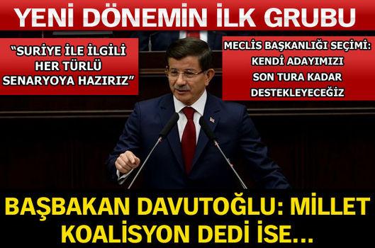 Başbakan Davutoğlu: Millet koalisyon dedi ise...