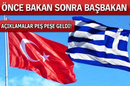 Başbakan Davutoğlu'ndan Yunanistan açıklaması