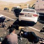 Erzurum'da trafik kazası: 11 yaralı