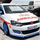 Modifiye ambulans polisi alarma geçirdi