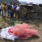 Düğün alışverişi dönüşü kaza: 6 yaralı