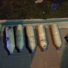 Polisin durdurduğu kişinin çantasından 14 kilo patlayıcı çıktı