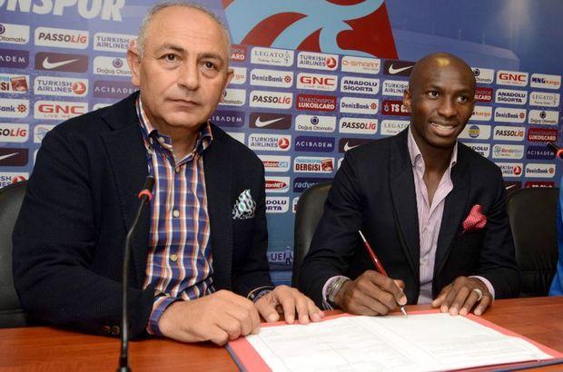 M'bia Trabzonspor'la 3 senelik sözleşme imzaladı
