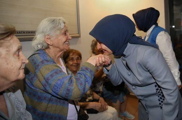 Sare Davutoğlu'ndan huzurevinde iftar