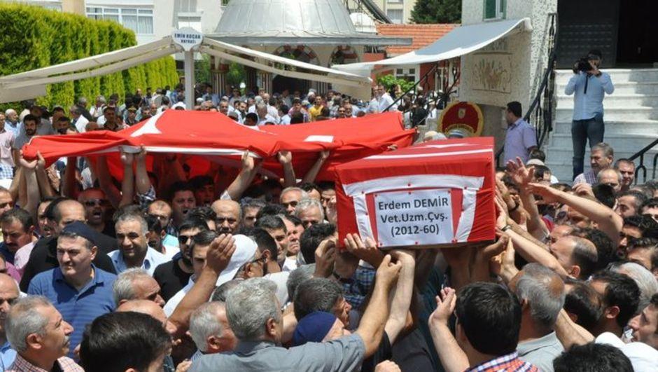 Uzman Çavuş Erdem Demir cenaze töreni İzmir