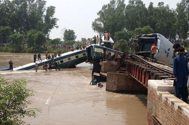 Pakistan'da üzerinden tren geçen köprünün çökmesiyle 12 kişi yaşamanı kaybetti, çok sayıda yaralı var