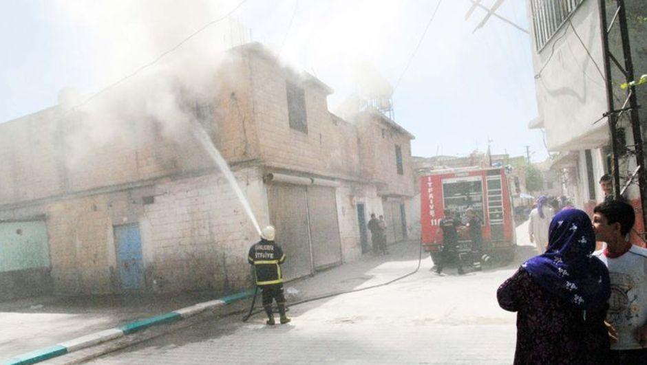 Şanlıurfa, eşiyle tartışan adamın evini ateşe vermesi