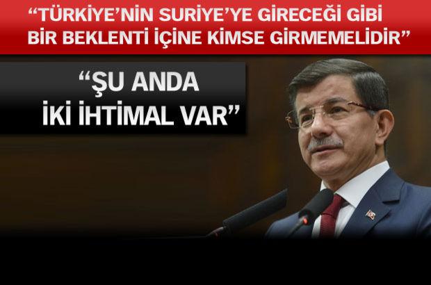 Başbakan Ahmet Davutoğlu, koalisyon, Suriye
